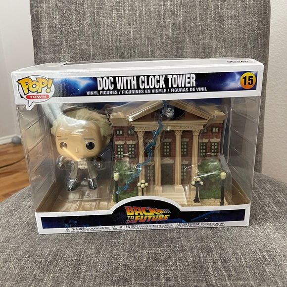 Doc With Clock Tower Back To The Future Funko Town